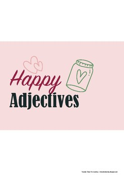 Happy Adjectives Fun Coloring Worksheets