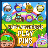 Happy Adventurer Play Pin Badges For Games And Lessons