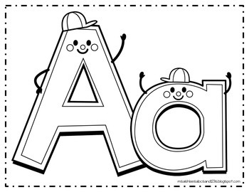 Happy Alphabet Coloring Pages