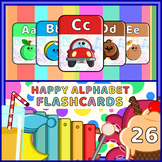 Happy Alphabet Flashcards - Funky Edition 26 nos.