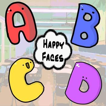 Happy Alphabet Letters Clip Art