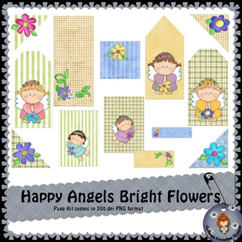 Happy Angels Bright Flowers Page Kit