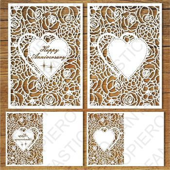 Happy Anniversary and Greeting card blank SVG files