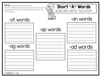 Write the Room-Short A