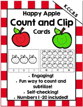 Happy Apple Count and Clip Cards (FREEBIE!)