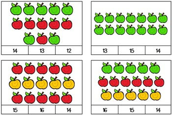 Happy Apple Count and Clip Cards (Full Color)