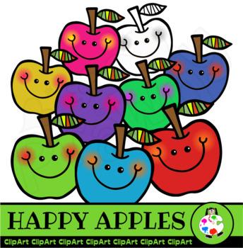Happy Apples - Doodle Clip Art