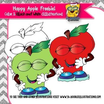 Happy Apple Free clipart