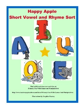 Happy Apple (Short Vowel and Rhyme Sorts)
