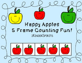 Apples Five Frame Counting Fun!