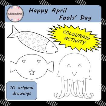 Colouring Activity - Happy April Fools' Day !