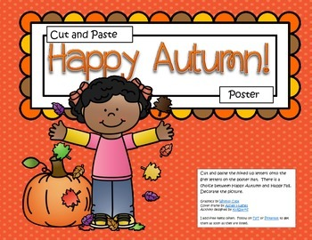 FALL Poster Cut and Paste FREE