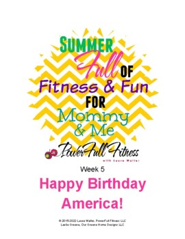 Happy BDay America - Weekly Lesson Plan for Preschool, Pre