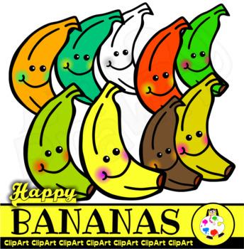 Happy Bananas - Doodle Clip Art