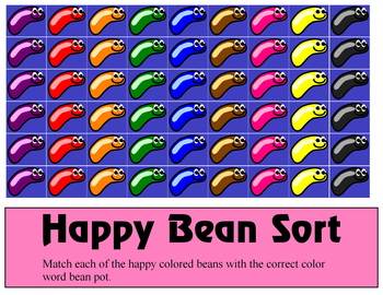 Happy Bean Sort - Activity Set for Learning Centers