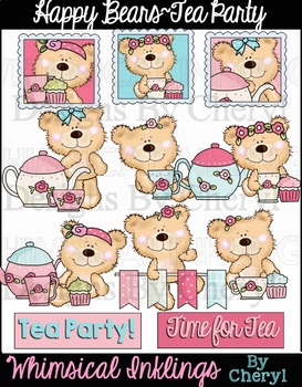 Happy Bears Tea Party Clipart Collection