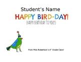Happy Bird-Day Card (Happy Birthday Card)