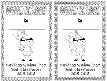 Happy Birthday! {A Class Book & Gift Pack}