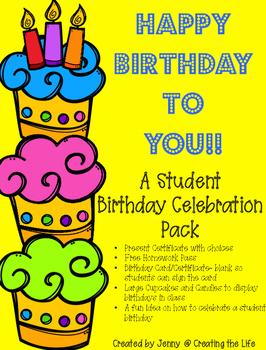 Happy Birthday A Student Celebration Kit