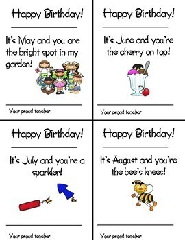 Happy Birthday ~ A Year of Birthday Cards