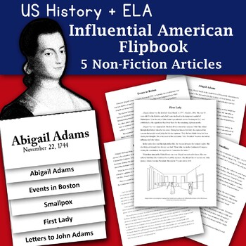 Happy Birthday Abigail Adams Informational Text and Graphic Organizer
