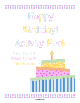Happy Birthday Activity Pack [Personal Use]
