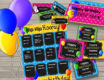 Happy Birthday {BUNDLE} Printable Cards - Tickets - Crowns - Bulletin Board