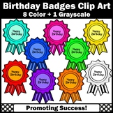 Happy Birthday Badges Clipart for Certificates Cards Chart