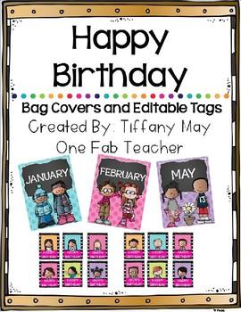 Happy Birthday Bag Covers