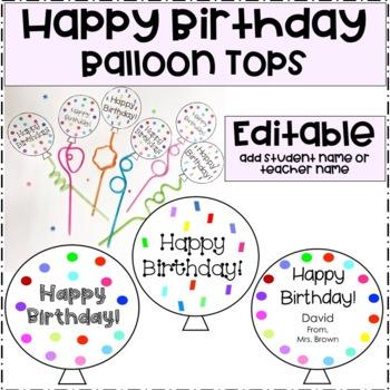 Happy Birthday Balloon Signs