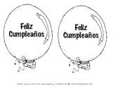 Happy Birthday Balloon Spanish