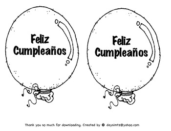 Happy Birthday Balloon Spanish
