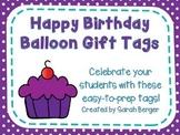 Happy Birthday Balloon Tags