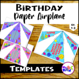 Birthday Paper Airplanes with Balloons
