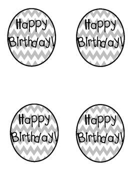 Happy Birthday Balloons to add to Birthday Gift