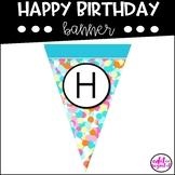Happy Birthday Banner | Confetti | Polka Dots