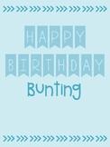 Happy Birthday Banner FREEBIE