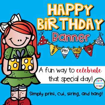 Happy Birthday Banner {Melonheadz Style}
