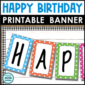 Happy Birthday Banner (Polka Dots)