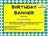Happy Birthday Banner Posters