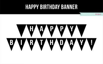 picture regarding Happy Birthday Banner Printable Pdf called Joyful Birthday Banner Printable
