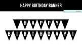 Happy Birthday Banner Printable