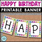 Happy Birthday Banner (Rainbow Dots)