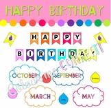 Happy Birthday Banner and Editables - Colour me Confetti