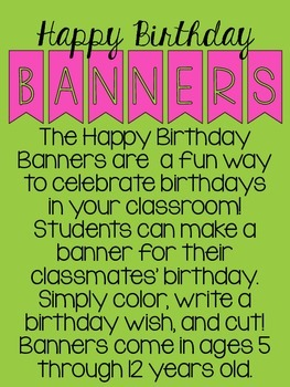 Happy Birthday Banners