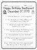 Happy Birthday Beethoven!  (QR Codes!)