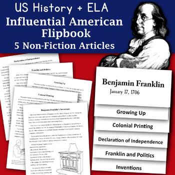 Happy Birthday Benjamin Franklin Informational Text and Graphic Organizer