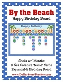 Happy Birthday Board / Chart coordinates with By the Beach
