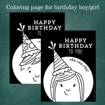Happy Birthday Book - Class and Teacher Gift for Birthday Girl or Boy