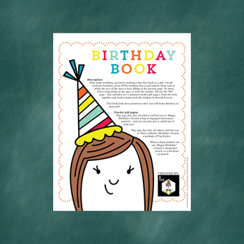 Happy Birthday Book - Class and Teacher Gift for Birthday